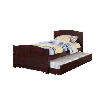 Fascinating Wooden Bed With Trundle - Benzara
