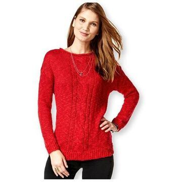 American Living Womens Marled Metallic Pullover Sweater