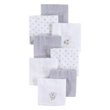 Luvable Friends Baby Washcloths Stars - Gray & White Star Washcloth Set