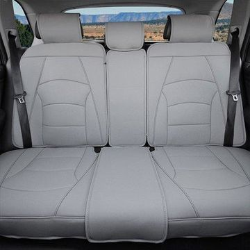 FH Group Ultra Leatherette Rear Bench Seat Cushions, Solid Gray