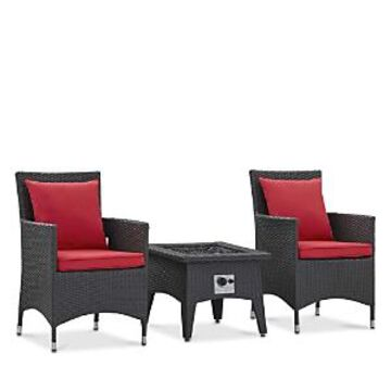Modway Convene 3 Piece Set Outdoor Patio with Fire Pit