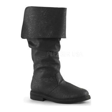 Funtasma Men's Robinhood 100 Boot Black Distressed PU