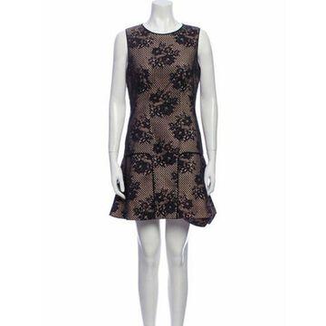 Printed Mini Dress Black