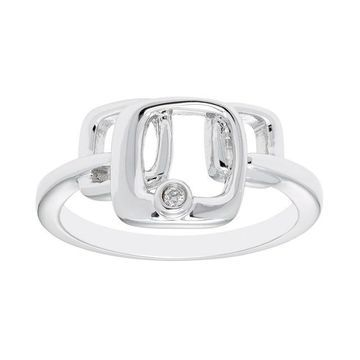 Boston Bay Diamonds Sterling Silver Diamond Accent Geometric Ring
