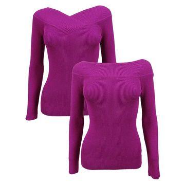 INC International Concepts Women's Reversible Sweater