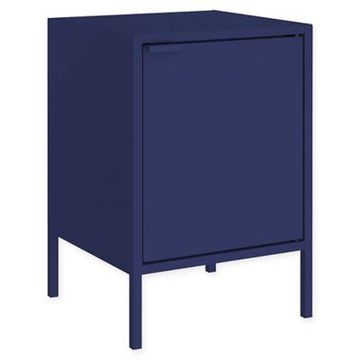 Manhattan Comfort Smart End Table in Blue
