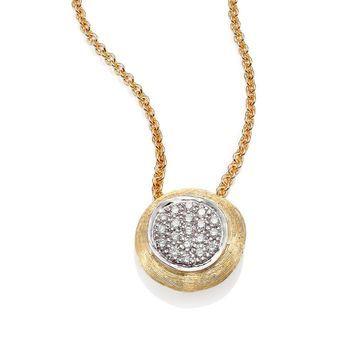 Delicati Diamond, 18K Yellow & White Gold Pendant Necklace