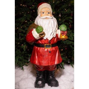 Alpine Santa Claus Christmas Statue, 45 Inch Tall