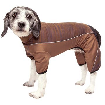 Pet Life Active Chase Pacer Heathered Performance Brown Dog Sweaters, Small