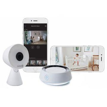 Safety 1st HD WiFi Baby Monitor with Sound/Movement Detecting Audio Unit in White