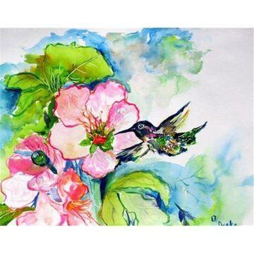 Betsy Drake DM437G Hummingbird & Hibiscus Door Mat Large