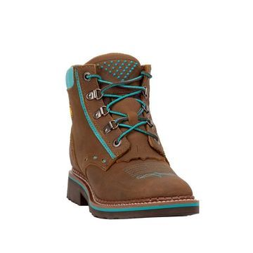 Dan Post Work Boots Womens Janeswille Square Toe 5