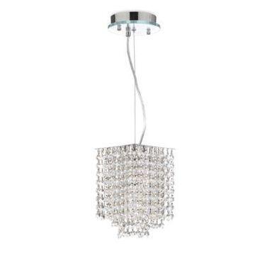 Gallery Retractable Crystal Pendant Light