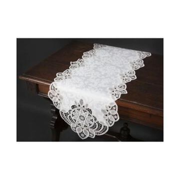 """Xia Home Fashions Antebella Lace Embroidered Cutwork Table Runner, 15"""" x 53"""""""