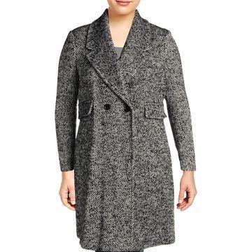 Karl Lagerfeld Paris Womens Winter Wool Blend Dress Coat