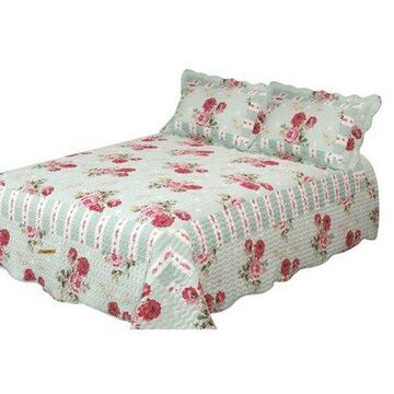 Bay colony quilts by Patch Magic Russelliana Rest Queen Quilt with two pillow shams set