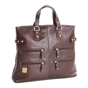 CLAVA Women's Zip Pocket Tote/Shoulderbag Cafe - US Women's One Size (Size None)