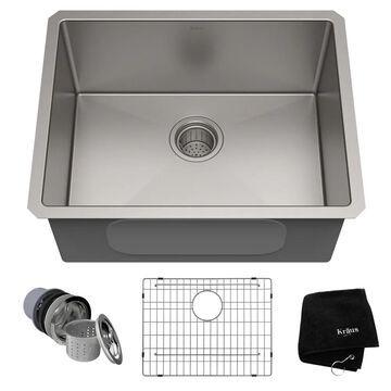Kraus Standart PRO Undermount 23-in x 18-in Stainless Steel Single Bowl Kitchen Sink | KHU101-23