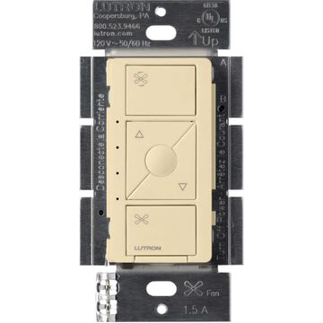 Lutron Caseta Wireless 4-Speed 1.5-Amp Wired Ivory Smart Touch Fan Control | PD-FSQN-IV