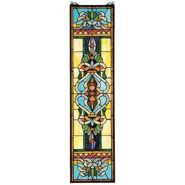 Design Toscano Blackstone Hall Verticle StainedGlass Window