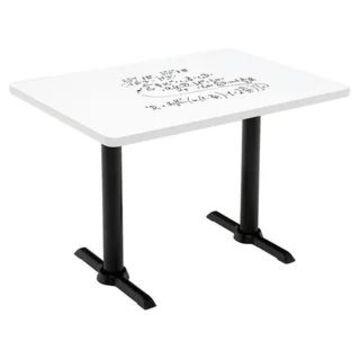 """KFI Whiteboard Conference Table, T-leg Base (30"""" W x 48"""" D x 29"""" H - Black)"""