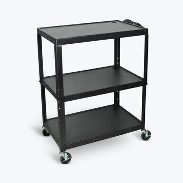 Luxor 42-in Shelf Utility Cart in Black