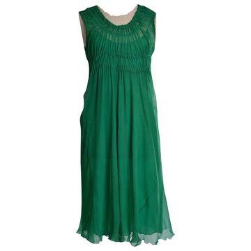 Philosophy Di Alberta Ferretti Green Silk Dresses