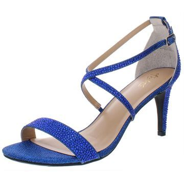Thalia Sodi Womens Darria 4 Embellished Shimmer Evening Heels