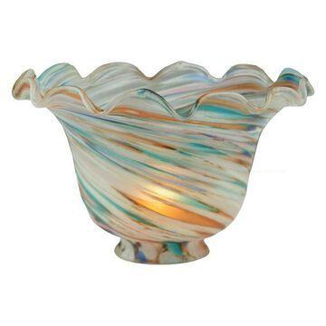 Meyda Tiffany 11361 Fluted Bell Peacock Shade