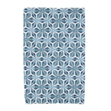 36 x 72-inch E by Design Water Mosaic Geometric Print Beach Towel