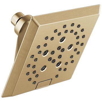 Delta Universal Showering Components Champagne Bronze 5-Spray Rain Shower Head 1.75-GPM (6.6-LPM) Rubber | 52664-CZ