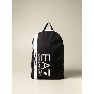 Ea7 Backpack In Technical Canvas With Big Logo