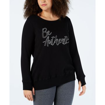 Plus Size Be Authentic Graphic Strappy-Back Top, Created for Macy's