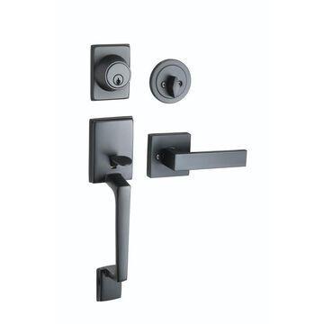 Design House Karsen Karsen Matte Black Reversible Keyed Entry Door Handle