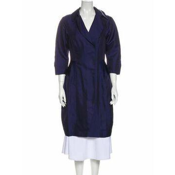 Silk Trench Coat Blue