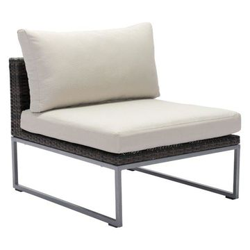 Zuo Modern Malibu Middle Chair Brown and Beige