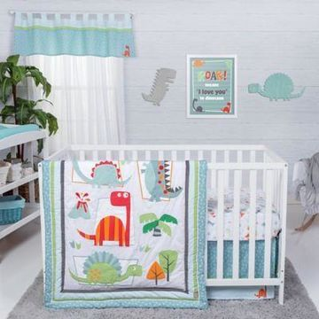 Trend Lab Dinosaur Roar 3-Piece Crib Bedding Set