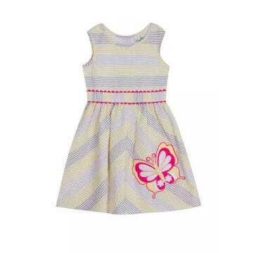 Rare Editions Girls' Toddler Girls Sleeveless Butterfly Seersucker Dress - -