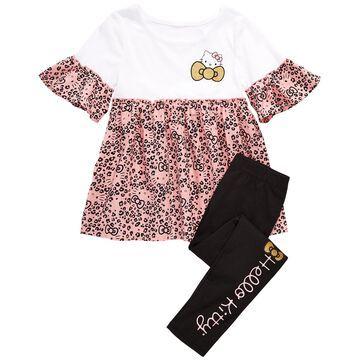 Toddler Girls Leopard-Print Top & Leggings Set