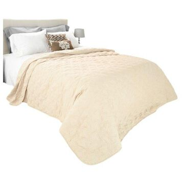 Solid Color Quilt by Lavish Home King, Ivory
