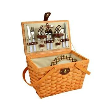 Picnic at Ascot Frisco Traditional American Style Picnic Basket - Service for 2
