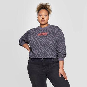 Women's Stay Fierce Plus Size Cropped Sweatshirt (Juniors') -