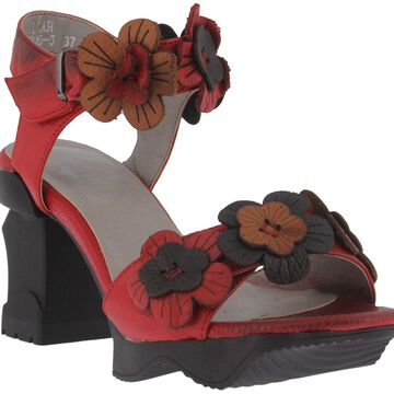 L'Artiste by Spring Step Leather Ankle Strap Sandals - Otileah