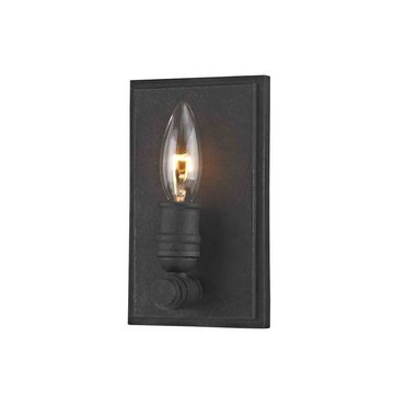 allen + roth Wharfside 4.38-in W 1-Light Textured Bronze Transitional Wall Sconce