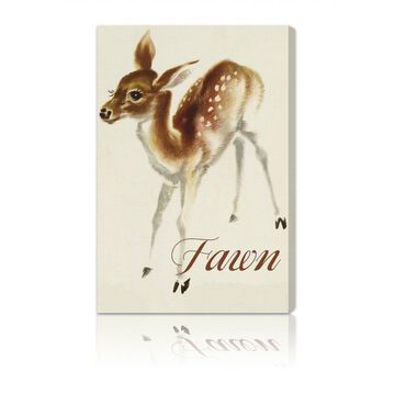 Oliver Gal 'Fawn' Canvas Art