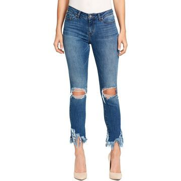 William Rast Womens Denim Distressed Ankle Jeans