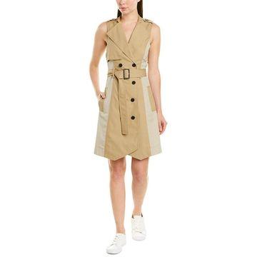 Derek Lam 10 Crosby Womens Belted Trench Coatdress