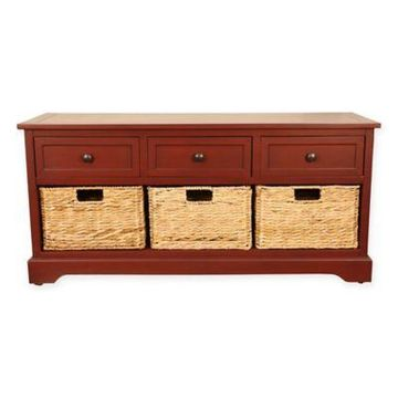 Decor Therapy Montgomery Bench in Red