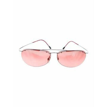 Tinted Round Sunglasses Red