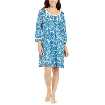 Miss Elaine Floral-Print Jersey Knit Nightgown
